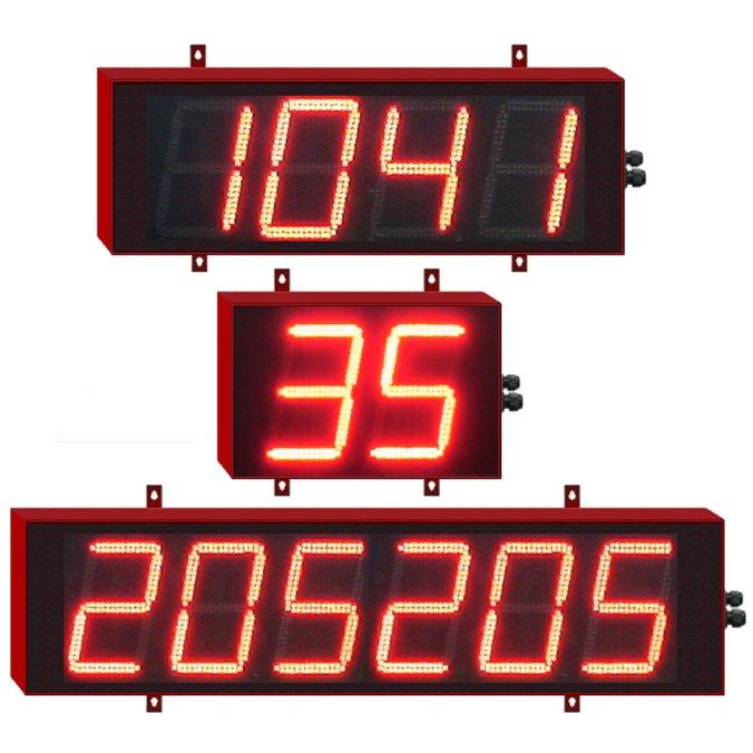 Afficheurs num riques g ants chiffres de 18cm afficheurs for Afficheur numerique exterieur