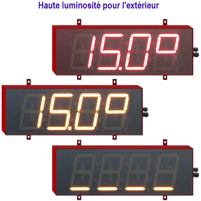 Afficheurs de temp rature chiffres de 18cm afficheurs for Afficheur led exterieur