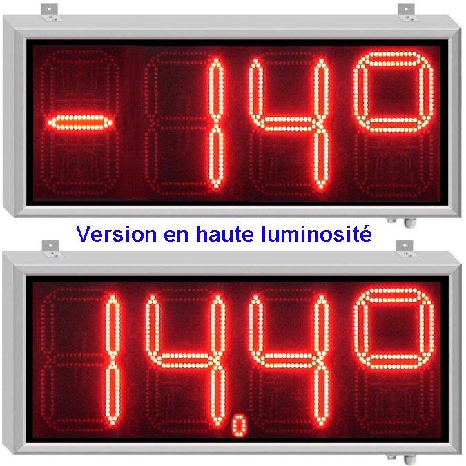 Afficheurs de temp rature chiffres de 30cm afficheurs for Thermometre exterieur geant