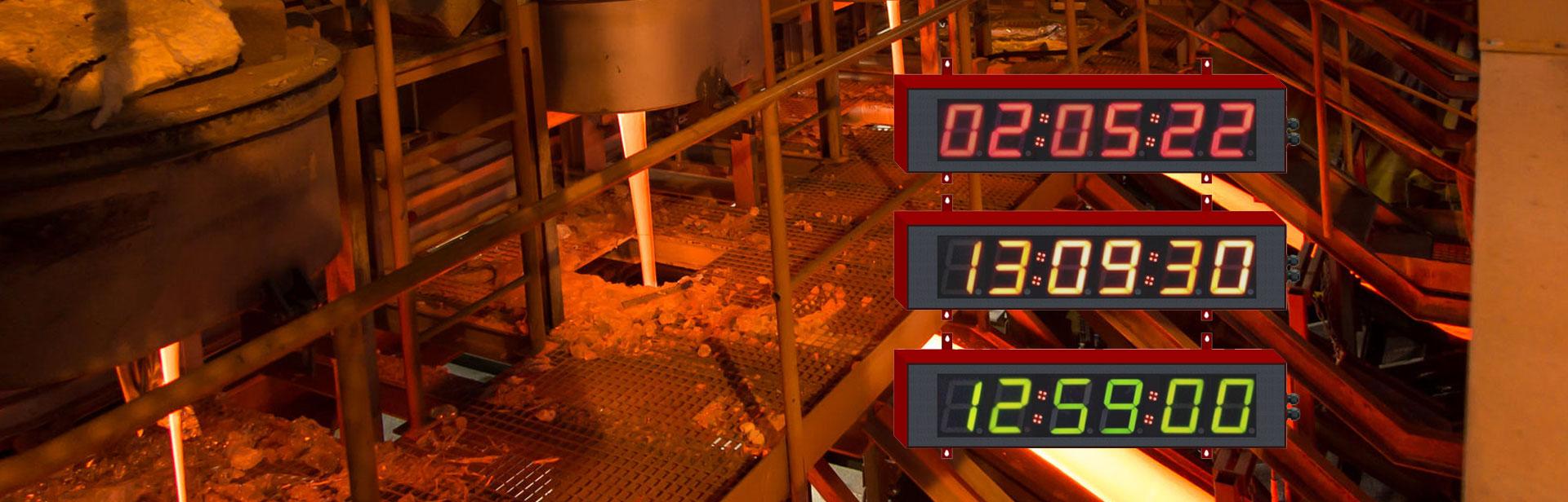Chronométrage industriel : Afficheurs ACI