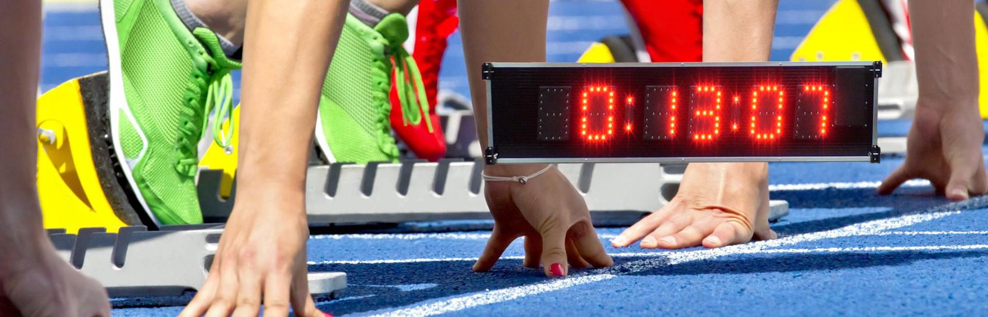 Chronométrage milieux sportif : Afficheurs ACI