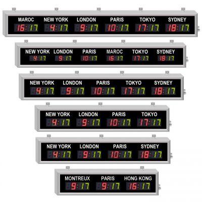 Affichage fuseaux horaires