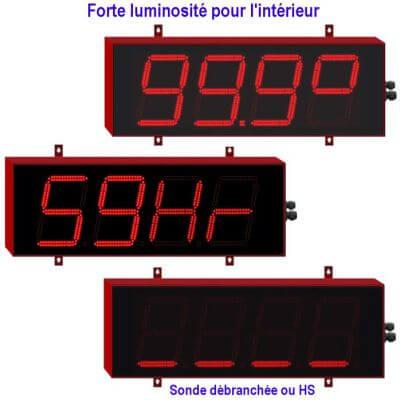 afficheur géant température et hygromètrie