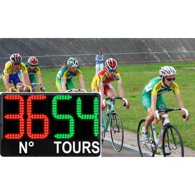 affichage nombre de tours cycliste