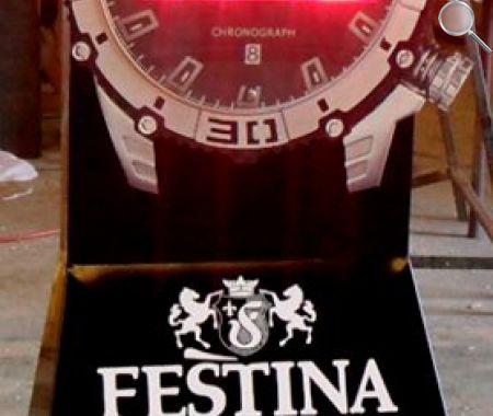 afficheurs éléctroniques ACI montre géante Festina