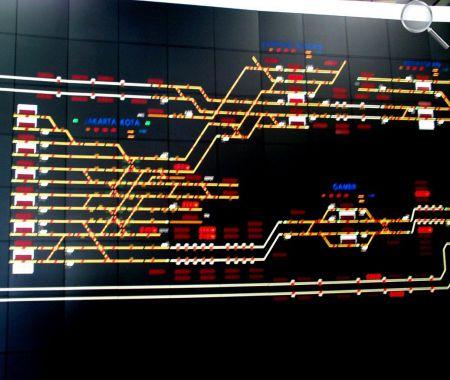 afficheurs éléctroniques ACI - Synoptique réseau féroviaire