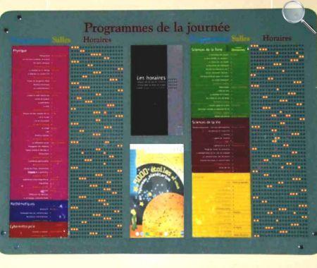 afficheurs éléctroniques ACI - Palais de la découverte
