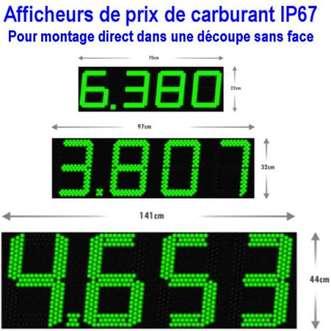 Afficheur prix carburants
