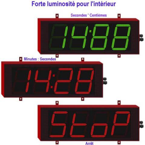 Chronomètre géant 4 digits