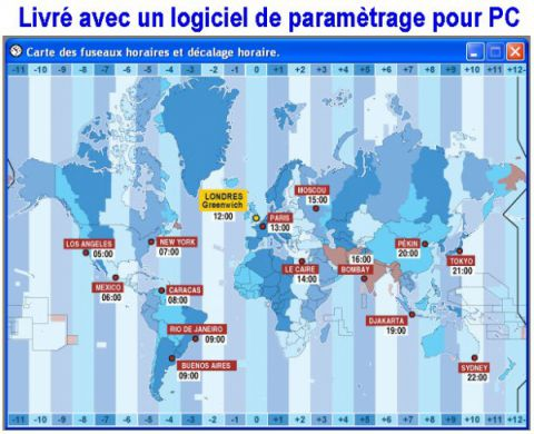 Logiciel horloge mondial