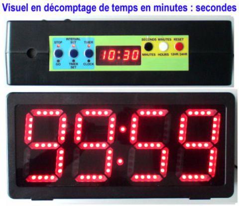 Horloge chronomètre géant