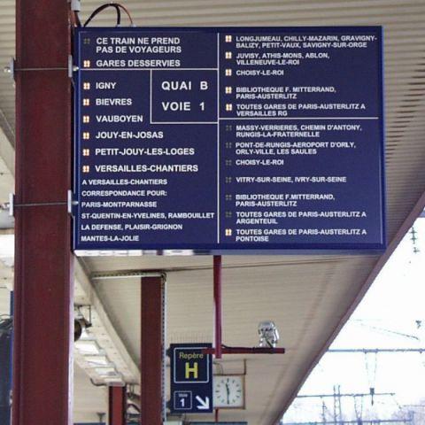 Afficheur gare