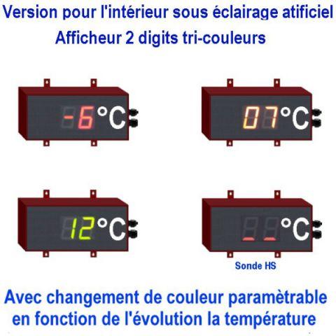 Afficheur température géant 6cm