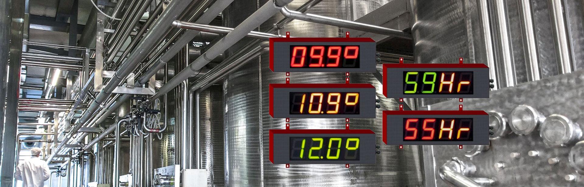 Afficheurs électroniques - mesures climatiques