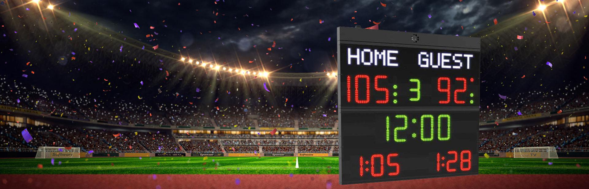 Afficheurs électroniques - affichage dans le milieu sportif