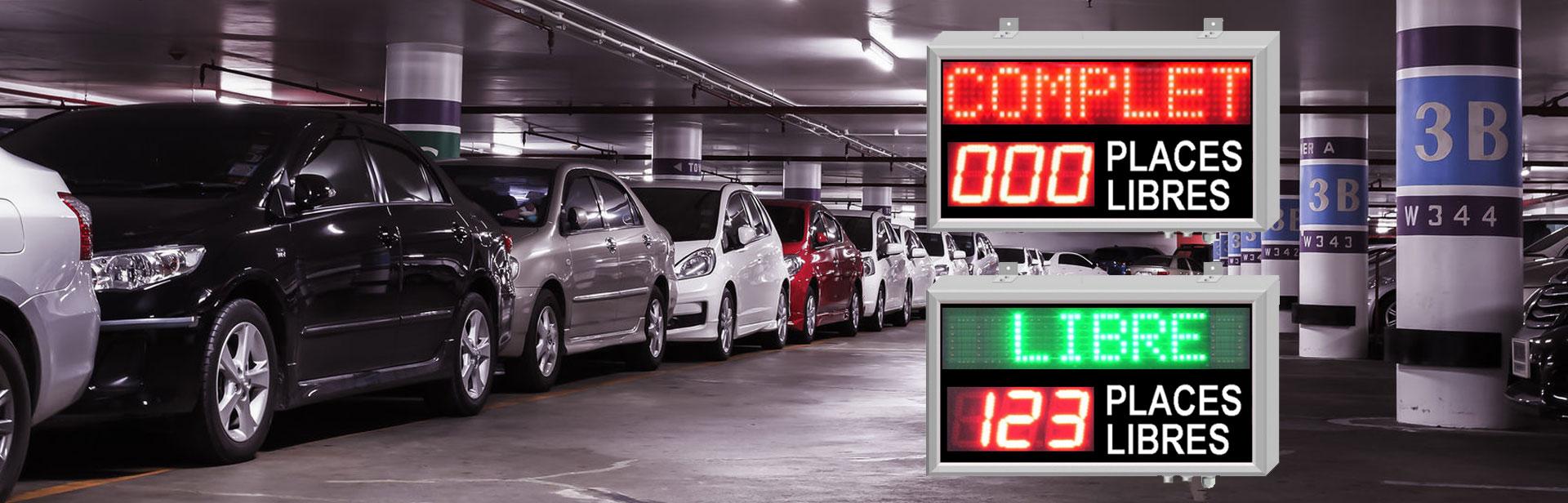 Affichage parkings : Afficheurs ACI