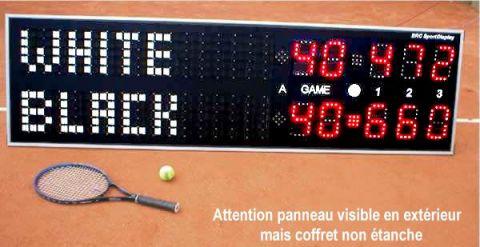 afficheur tennis