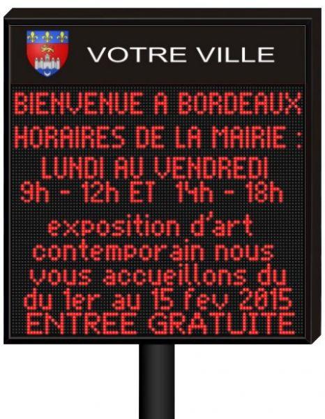 panneau information municipal