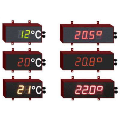 thermomètre géant a led